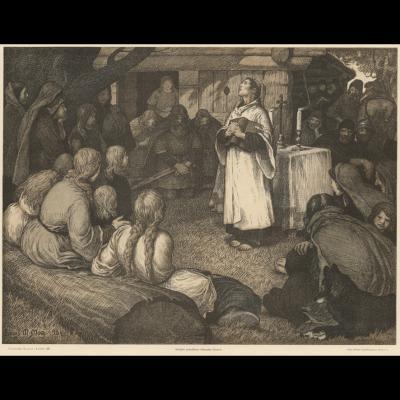 Ansgar prædiker i Haralds gård