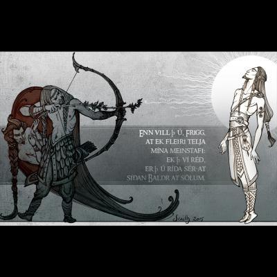 Baldr's death (illustration du Lokasenna)