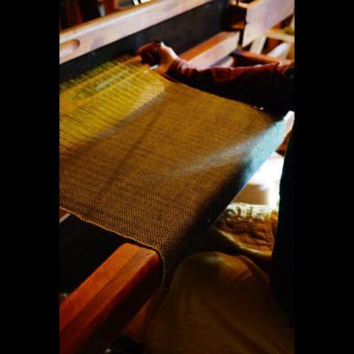 Drap de laine en motif chevron