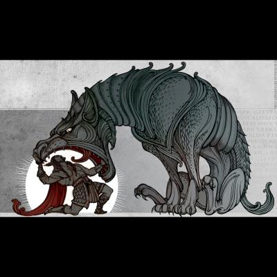 Fenriswolf (illustration du Lokasenna)