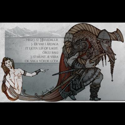 Heimdall (illustration du Lokasenna)