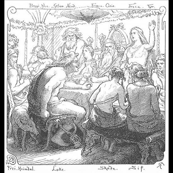 Une assemblée de dieux nordiques
