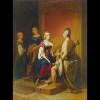 Heimdallr remet le collier Bryfing à Freyja