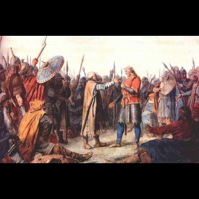 Le couronnement d'Olaf Tryggvason ou Olaf Ier (963/964-1000), Norvège