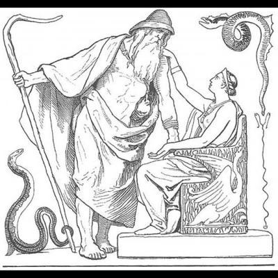 Odin et son épouse, la déesse Frigg