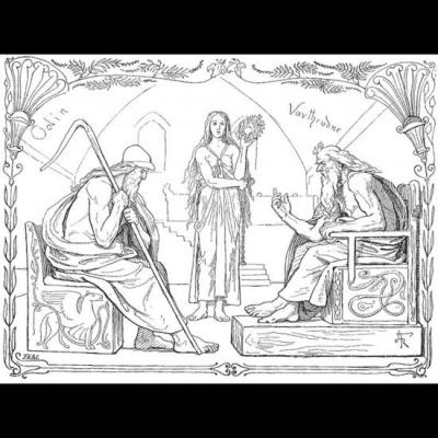 Odin et le sage jötunn Vafþrúðnir
