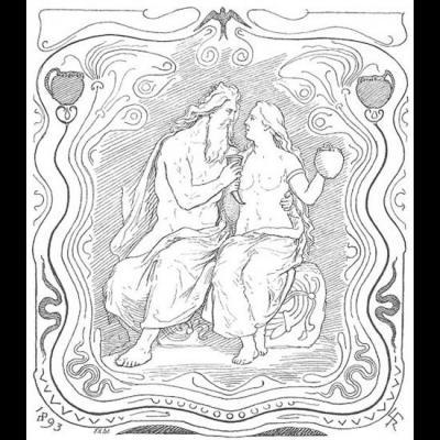 Odin embrasse Gunnlöð