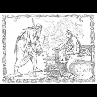 Odin et Völva