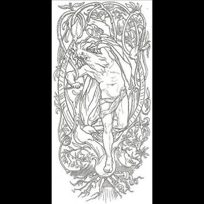 Odin se sacrifie en se pendant lui -même à l'arbre monde Yggdrasil