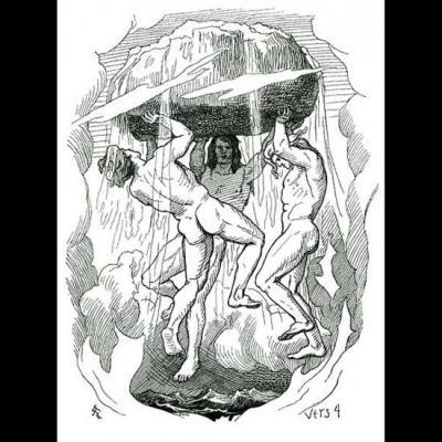 Odin et ses frères, Vili et Vé, créant le monde