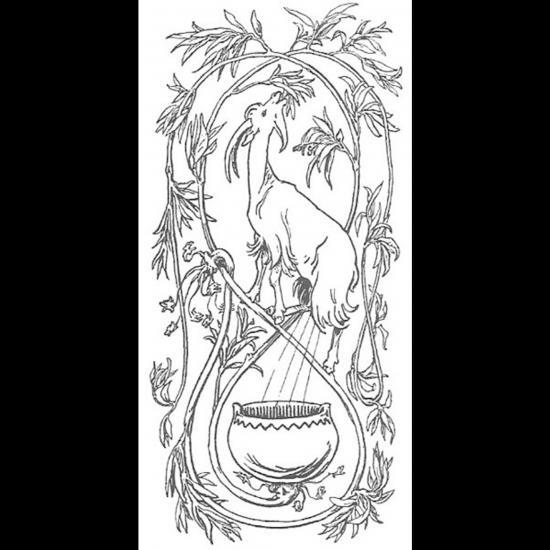 La chèvre Heiðrún sur l'arbre Læraðr et ses pis produisant du miel