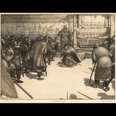 Knud den Store ydmyger sig for Vederlaget