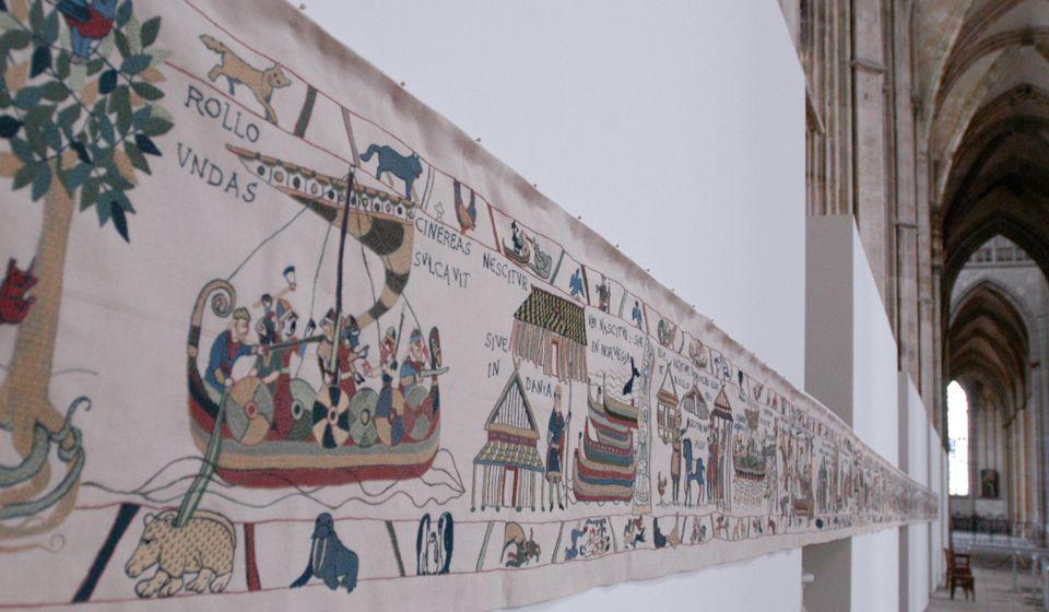 La Tapisserie de Rollon exposée à Rouen - Photo: www.tapisseriederollon.com