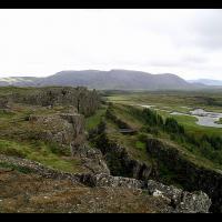Le plus ancien Althing, faille de Thingvellir, en Islande