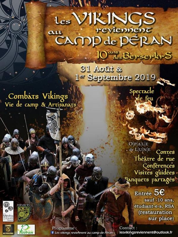 Les vikings reviennent au camp de Péran !