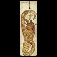 Jörmungand (image extraite d'un manuscrit islandais du XIIIème siècle)