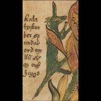 Ratatoskr (image extraite d'un manuscrit islandais du XIIIème siècle)