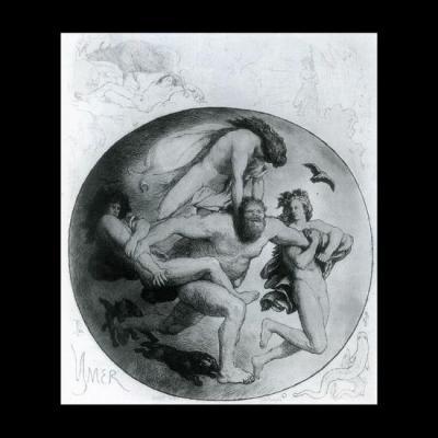 Ymir tué par Odin et ses frères Vili et Vé,  par Froelich