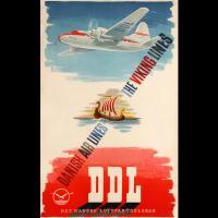 Affiche publicitaire Danish airlines