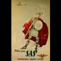 Affiche publicitaire Scandinavian airlines