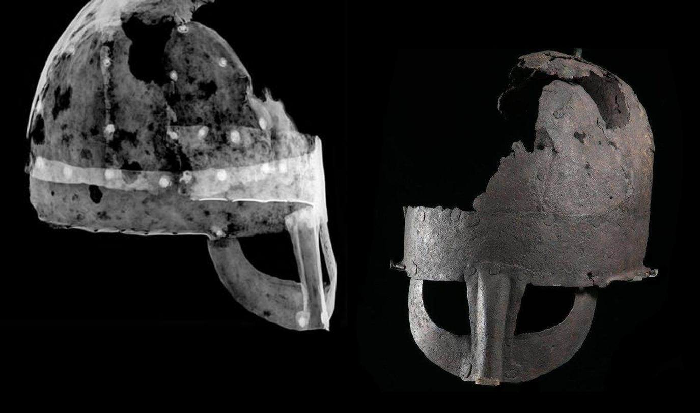 Angleterre - Le casque de Yarm est un authentique casque viking du Xème siècle - Photo: Université de Durham