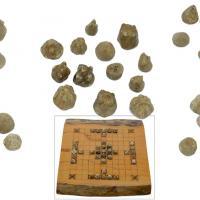 Angleterre - Les 37 pièces d'un jeu viking découvertes à Torksey et le tablier conçu pour la vente aux enchères par Dix Noonan Webb - Photo: DNW