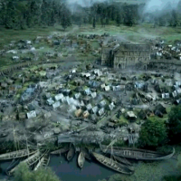 Reconstitution du camp viking à Torksey - photo BBC