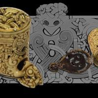 Espagne - Boîte cylindrique viking du Musée de la Basilique de Saint Isidore à León - Photo: Thérèse Martin et illustration de Nancy L Wicker