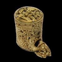 Boîte cylindrique viking  au Musée de la Basilique de San Isidoro de León - Photo: Thérèse Martin