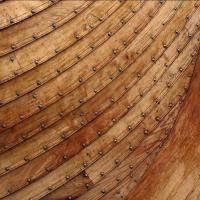 Bordages à clin et rivets en fer