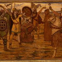 Brian Boru avant la bataille de Clontarf. Une des 12 peintures murales de James Ward à l'hôtel de ville de Dublin