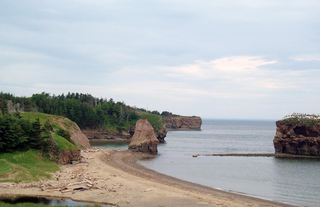 Canada - Salmon beach dans la baie des Chaleurs
