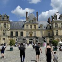 Château de Fontainebleau lors du Festival de l'Histoire de l'Art 2018 - Photo:Thibaut Chapotot