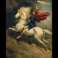 Dagr et son cheval Skinfaxi - Peinture Peter Nicolai Arbo