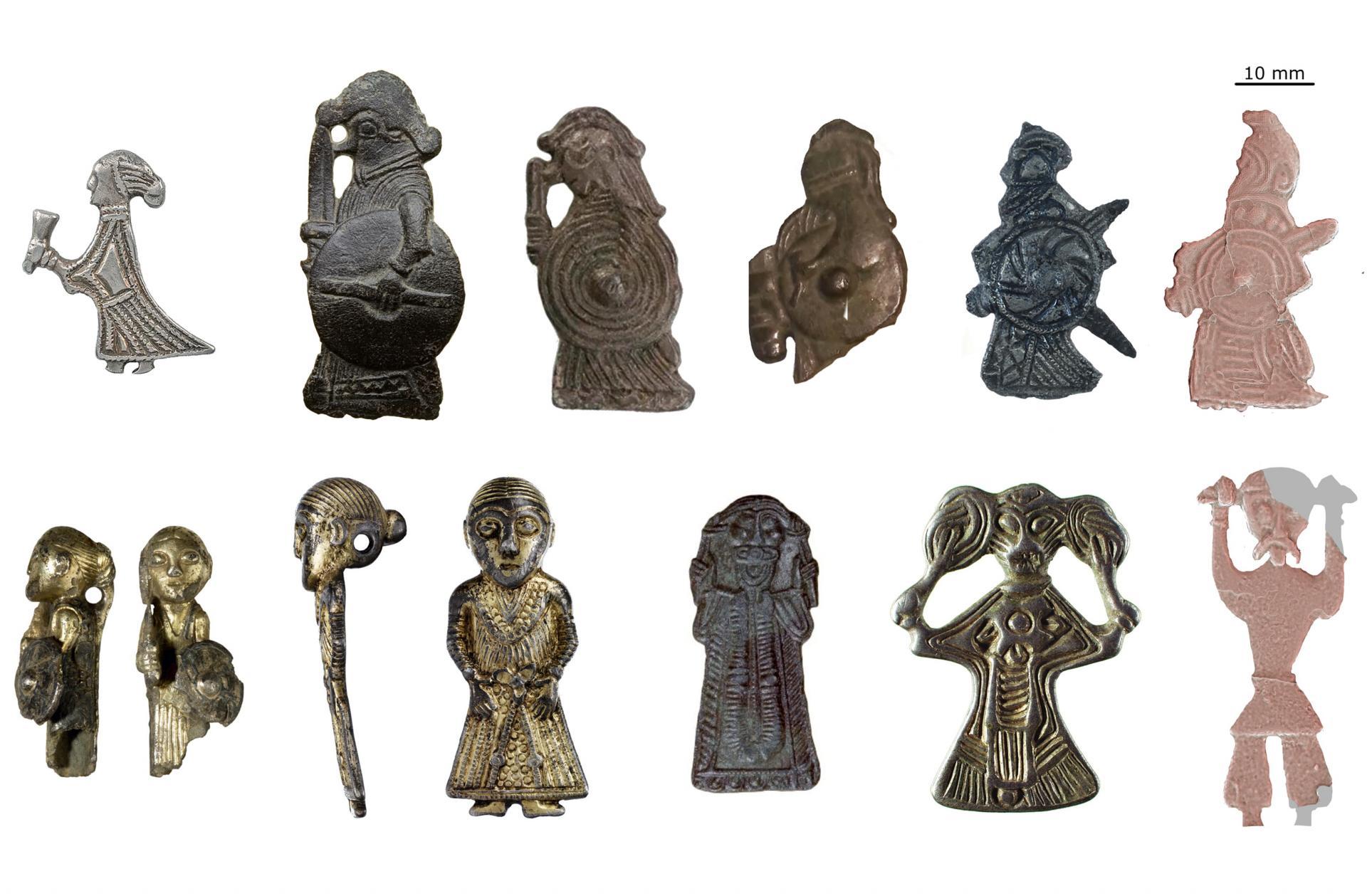 Ces figurines de l'Âge Viking représenteraient des hommes et des femmes dans la pratique d'un rituel, et non des divinités - Photos: Pieterjan Deckers, Sarah Croix et Søren Sindbæk