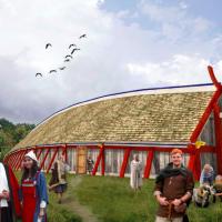 Débat scientifique sur la couleur des bâtiments vikings - Photo: Sagnlandet Lejre