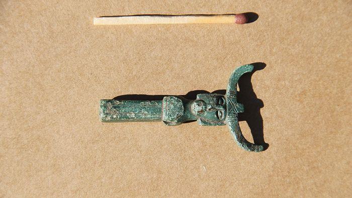 Découverte d'une figurine d'Odin - Photo: musée Ostfyns