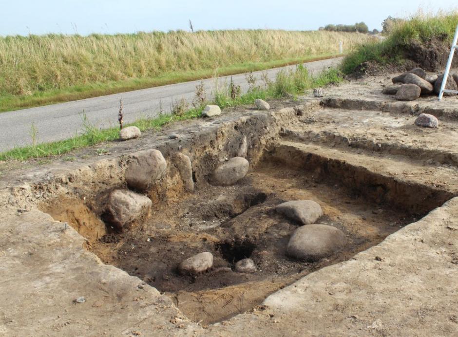 Ce qui pourrait être la tombe du jarl Ulv Galiciefarer