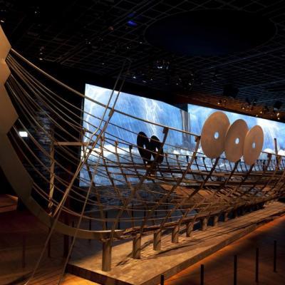Danemark - Le plus long navire viking, Roskilde 6, se compose de plusieurs centaines de pièces de bois - Photo: John Lee, Musée national