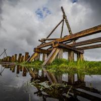 Danemark - Le plus long pont viking en cours de construction à l'Ouest de Coppenhague - Photo: Morum2011