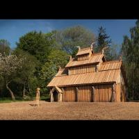Danemark, le temple Valheim Hof à Korinth