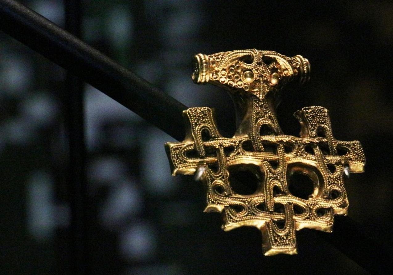 Une copie de cette pièce du trésor d'Hiddensee volée au musée d'Histoire du Danemark - Photo: Musée de Stralsund