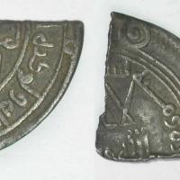 Dirhams d argent ixieme siecle decouverts a torksey coupes en plus petites unites d echange par les vikings