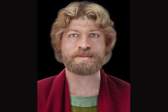 Ecosse -Reconstitution du visage de Saint Magnus par Hew Morrison