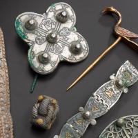 Ecosse - Une partie des artefacts du trésor de Galloway après leur conservation - Photo: Musée national d'Ecosse