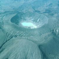 Le cratère du volcan El Chichón, responsable du fimbulvetr,  après sa dernière éruption en 1982 -Photo: Science Photo Library