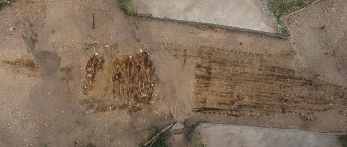 Estonie - Le plus grand des deux bateaux tombes découvert à Salme - Photo: Liina Maldre, Université de Tallinn