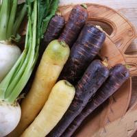 Exemple de légumes cuisinés à l'Âge Viking - Photo: Vrangtante Brun