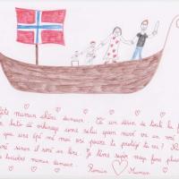 Une fête des mères vikings - Dessin: Romain 8 ans - Strasbourg (67)