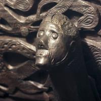 Figurine sculptée sur le chariot découvert dans la tombe d'Oseberg, IXème siècle, Norvège